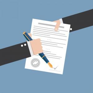 Signatur Vertrag